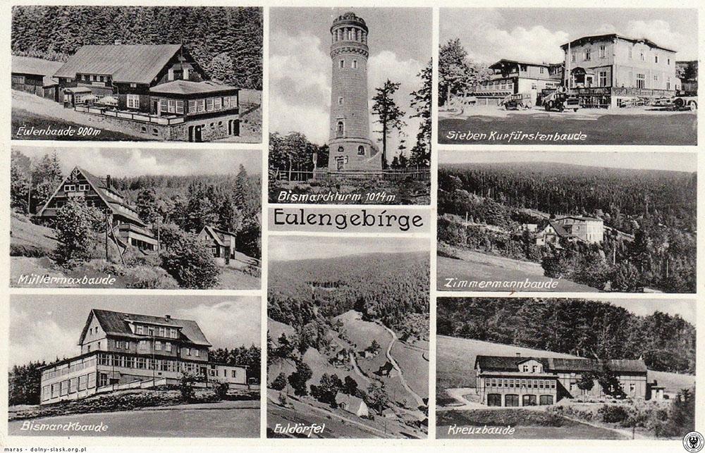 Atrakcje i schroniska Gór Sowich (niem. Eulengebirge) – Źródło: polska-org.pl